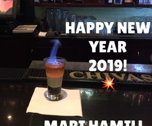 drinks, happy new year, and spirits image