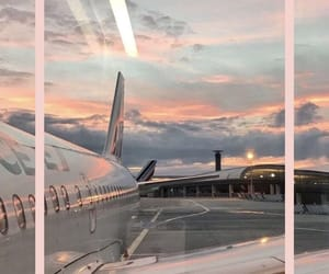travel, airplane, and fly image