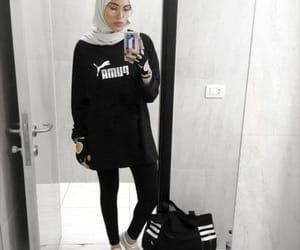 hijab, sporty, and fashion image
