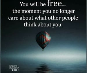 be free, hot air balloon, and quote image