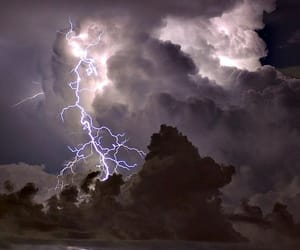 clouds and lightning image