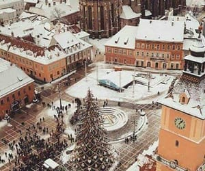 winter, arquitectura, and christmas image