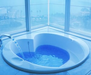 blue and water image