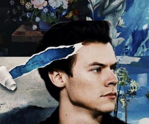 wallpaper, Harry Styles, and blue image