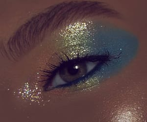 blue, glittery, and brown image