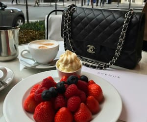 strawberry, food, and chanel image