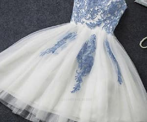 lace homecoming dresses, cute homecoming dresses, and light blue prom dresses image