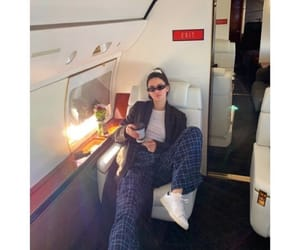 private jet, girl girly lady, and alternative vintage image