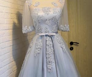 prom dress blue, short homecoming dress, and lace homecoming dress image