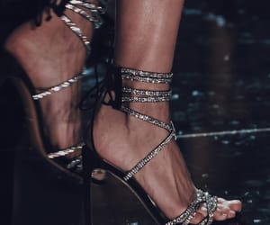 heels, strappy, and jewels image