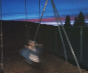 aesthetic, blue, and blurry image
