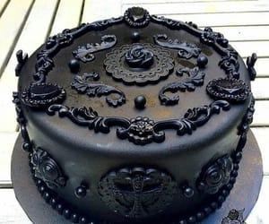 black, cake, and goth image