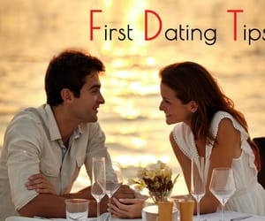 dating, tips, and first date image