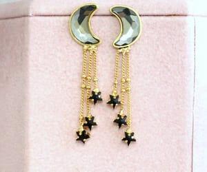 etsy, moon earrings, and swarovski earrings image