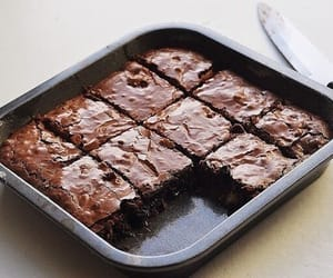 chocolate, food, and brownies image