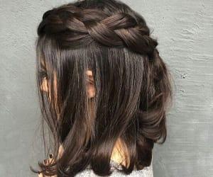 braid, brown, and hair image
