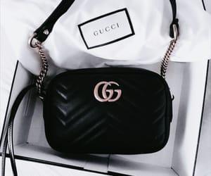 gucci, bag, and black image