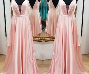 long prom dress, pink evening dress, and plus size prom dress image