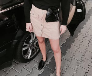 beige, skirt, and black image