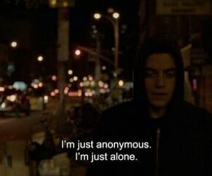 alone, anonymous, and mr robot image