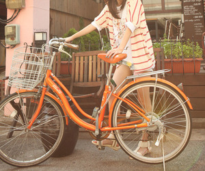 bike, orange, and bicycle image
