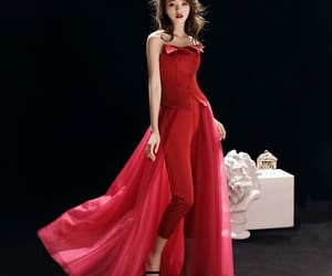 evening dress, satin, and tulle dress image