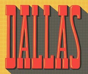 america, Dallas, and orange image