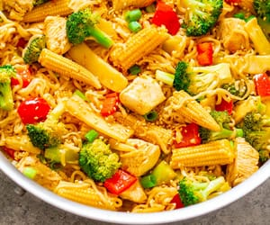 dinner, food, and pasta image