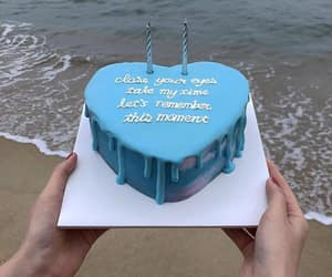 blue, cake, and delicious image