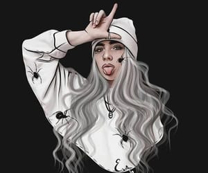 wallpaper, billie eilish, and black image