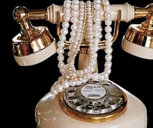 vintage, pearls, and phone image