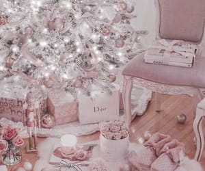 christmas, holidays, and pink image