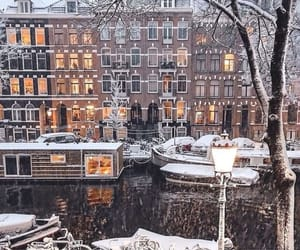 amsterdam, architecture, and boat image