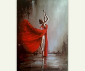 ballet dancer, oil on canvas, and original painting image