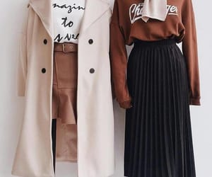 autumn, brown, and clothes image