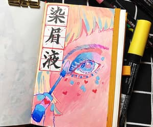 artist, girl, and illustration image