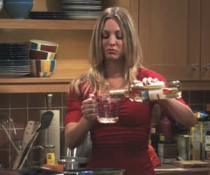 penny, the big bang theory, and alcohol image