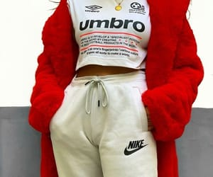 nike, red, and fashion image