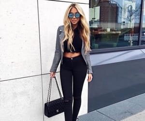 black, chanel, and hair image