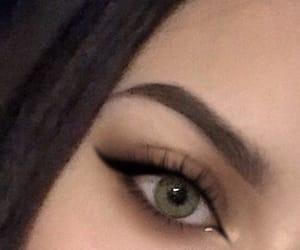 girl, make-up, and brows image