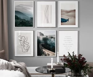 apartment, art, and bedroom image