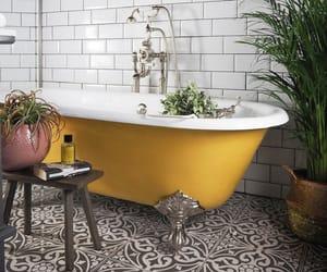 bathroom, home decor, and decorating image