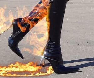 fire, boots, and aesthetic image