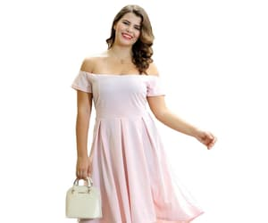 beautiful, offshoulder dress, and plus size dress image