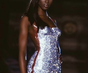 beauty, dress, and Naomi Campbell image