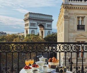 paris, travel, and breakfast image