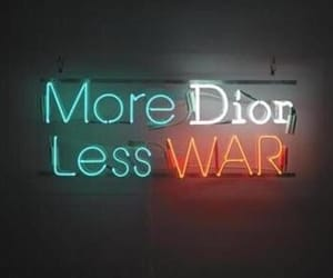 dior, neon, and light image