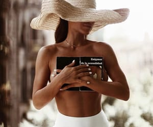 fashion, hat, and book image