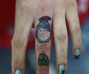 My Neighbor Totoro, nails, and tattoo image