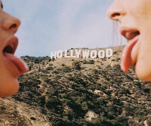 california, hollywood, and sky image